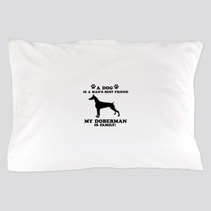 Doberman Dog Breed Designs Pillow Case